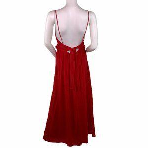 Zara Red Gauze Boho Lagenlook Backless Dress M
